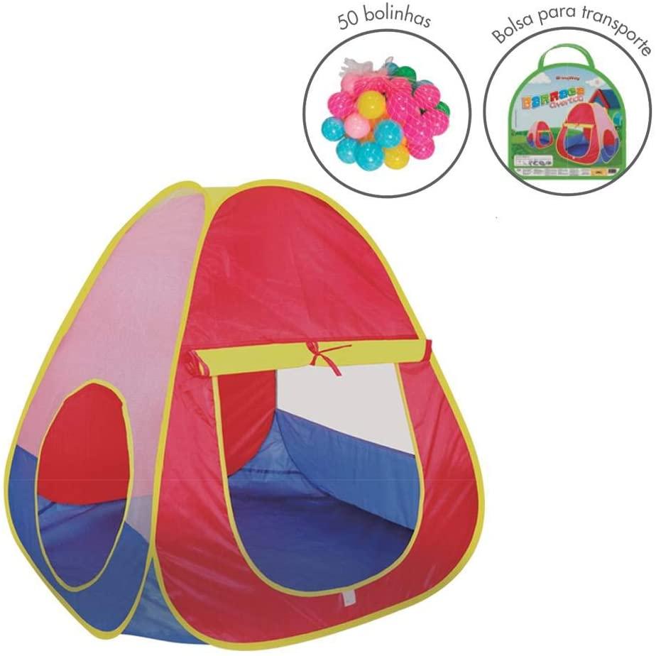 Barraca Infantil Divertida Com Bolinhas Brinqway - Bw064