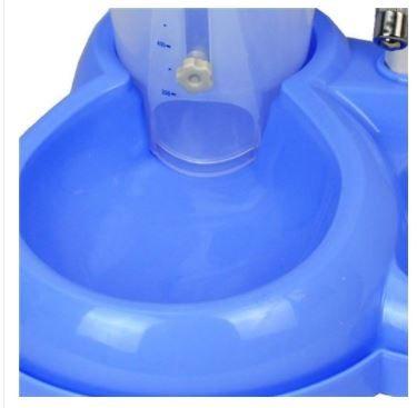 Bebedouro com Comedouro Automático Azul - Chalesco