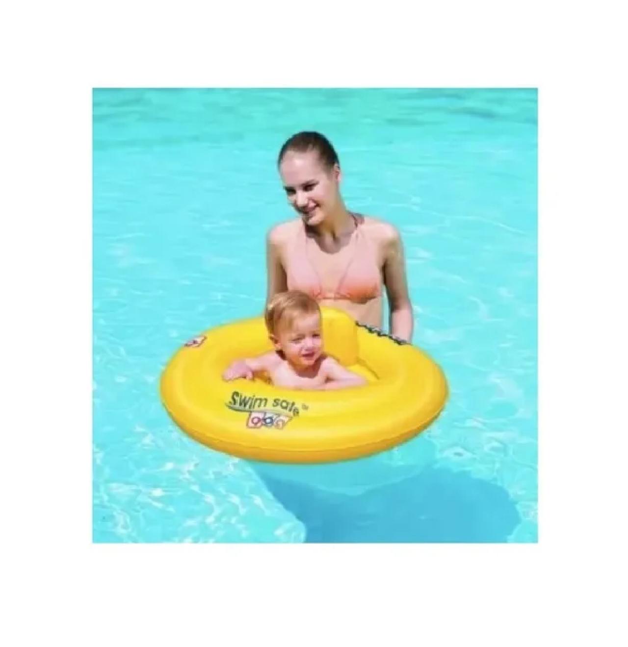 Boia Inflável Infantil C/ Fraldinha Bebê Criança Piscina Mor