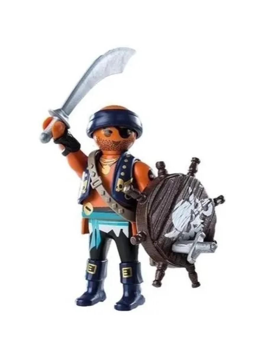 Boneco Pirata c/ Escudo Playmobil Playmo-friends Meninos - Sunny