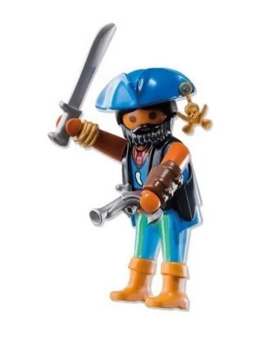 Boneco Pirata do Caribe Playmobil Playmo-friends Meninos - Sunny