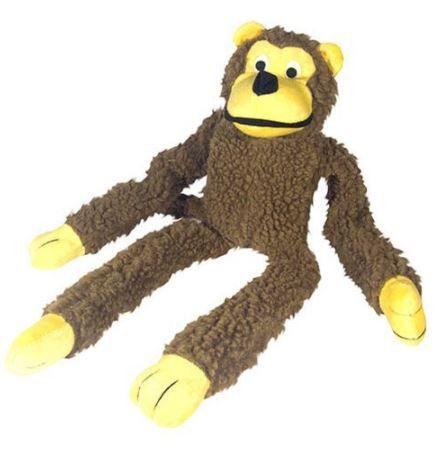 """Brinquedo de Pelúcia para Cães Cachorro """"Macaco"""" - Chalesco"""