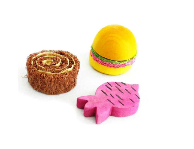 Brinquedo Mordedor para Roedor Madeira e Bucha n2 - Pawise