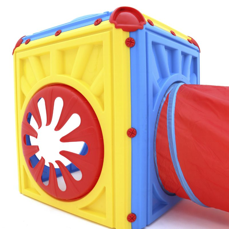 Brinquedo Túnel Cubo Infantil Flexível Com Janelas - Belfix