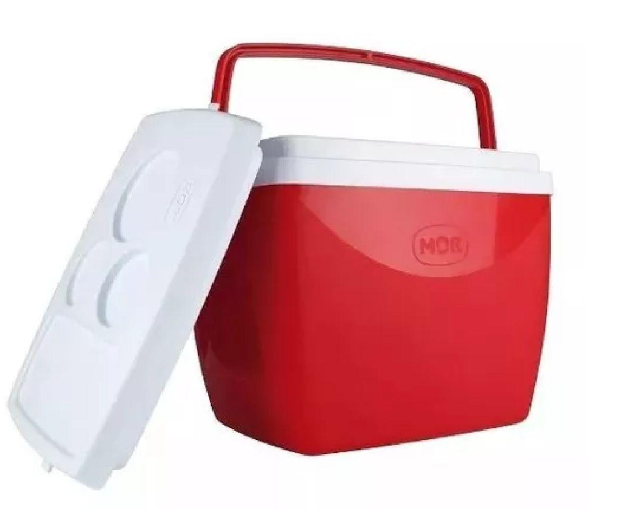 Caixa Térmica Cooler 34L Vermelha - MOR