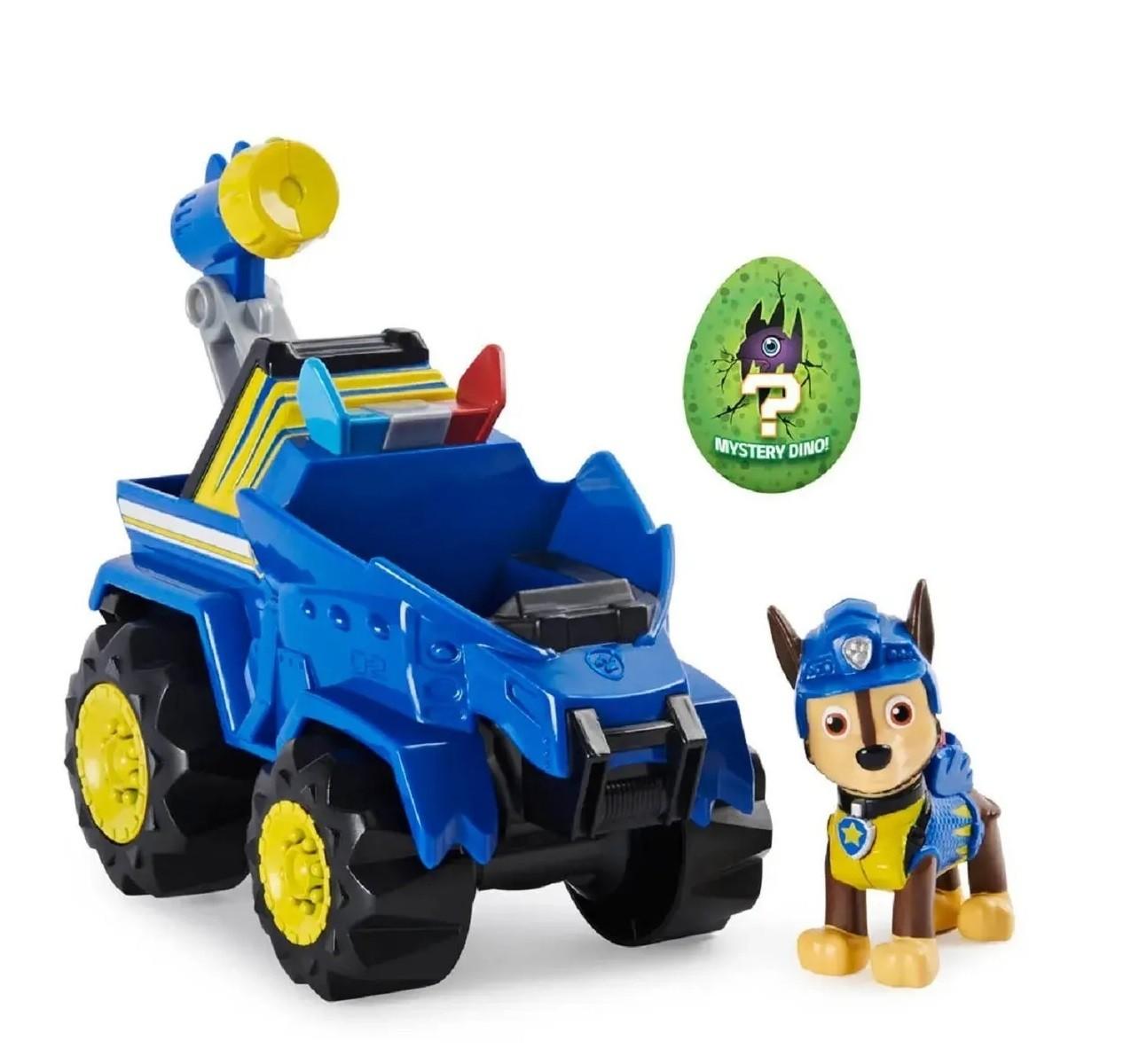 Carrinho e Boneco Dino Rescue Carro Temático Patrulha Canina Chase - Sunny