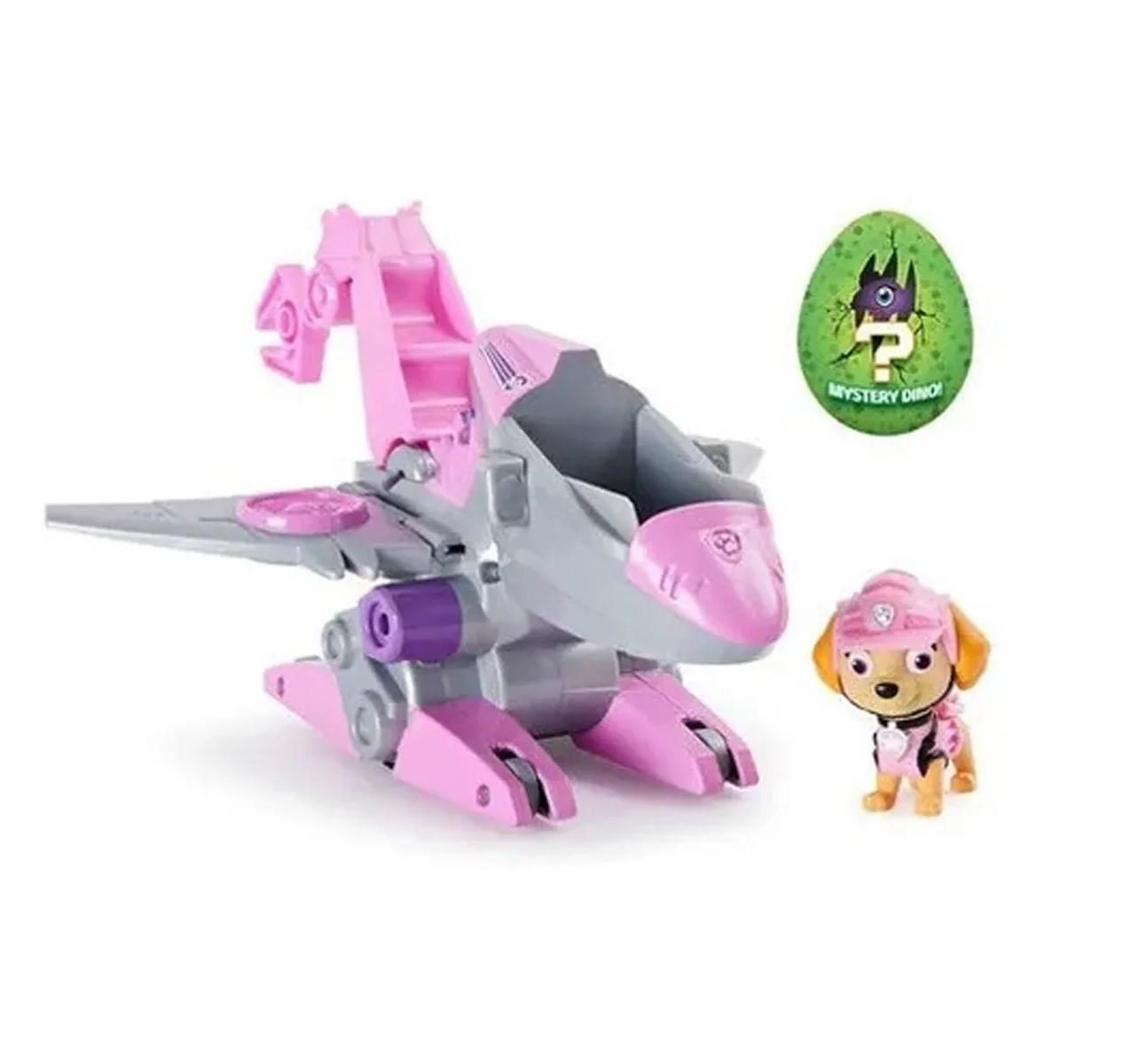 Carrinho e Boneco Dino Rescue Carro Temático Patrulha Canina Skye- Sunny