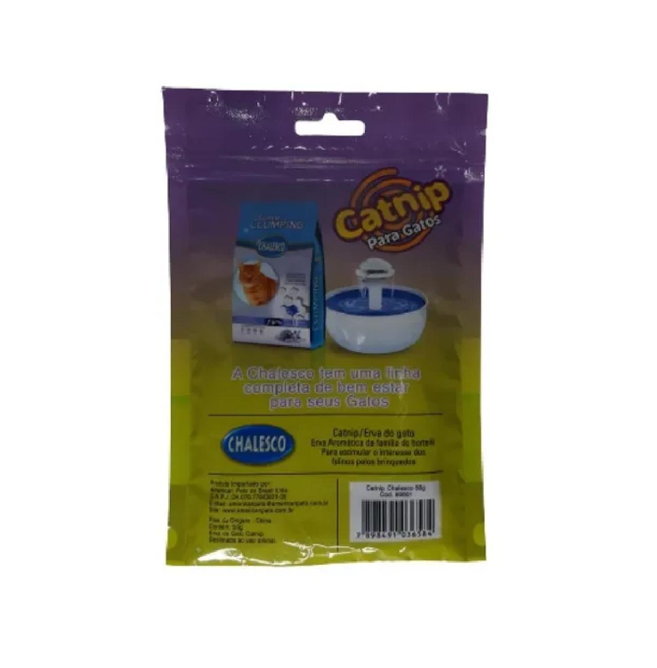 Catnip A Erva Do Gato 50 Gramas - Chalesco