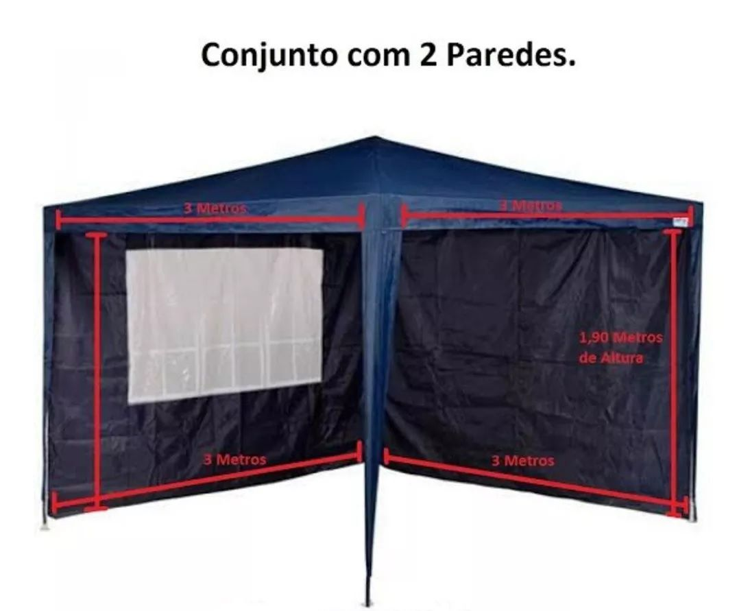 Conjunto Parede para Tenda Gazebo  3 x 3m
