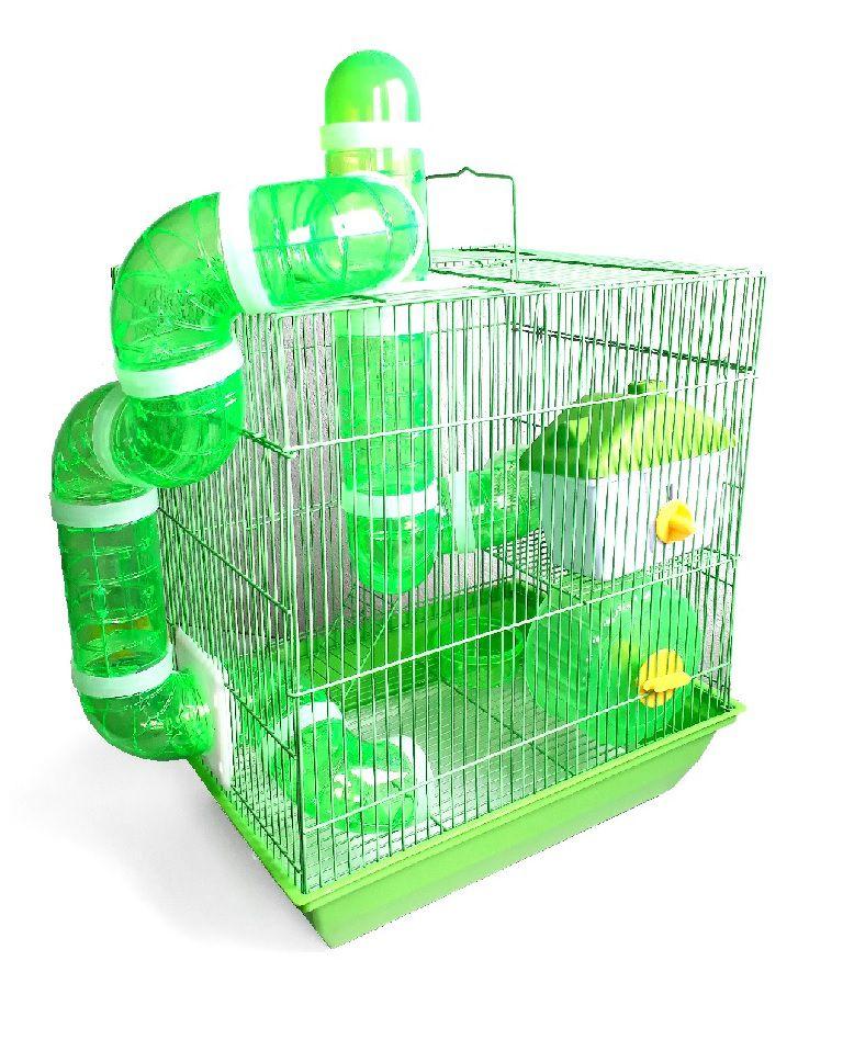 Gaiola Hamster 3 andares Labirinto - Verde