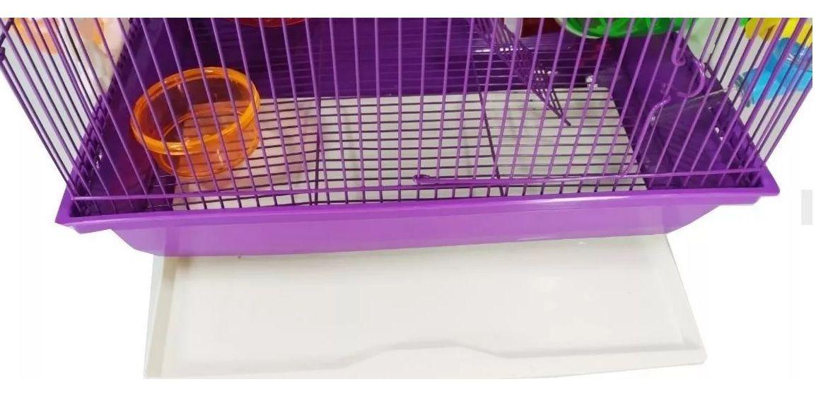 Gaiola Hamster 3 andares Labirinto - Roxa