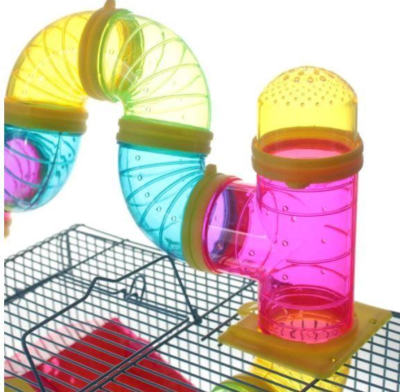 Gaiola Hamster 3 andares Labirinto - Azul