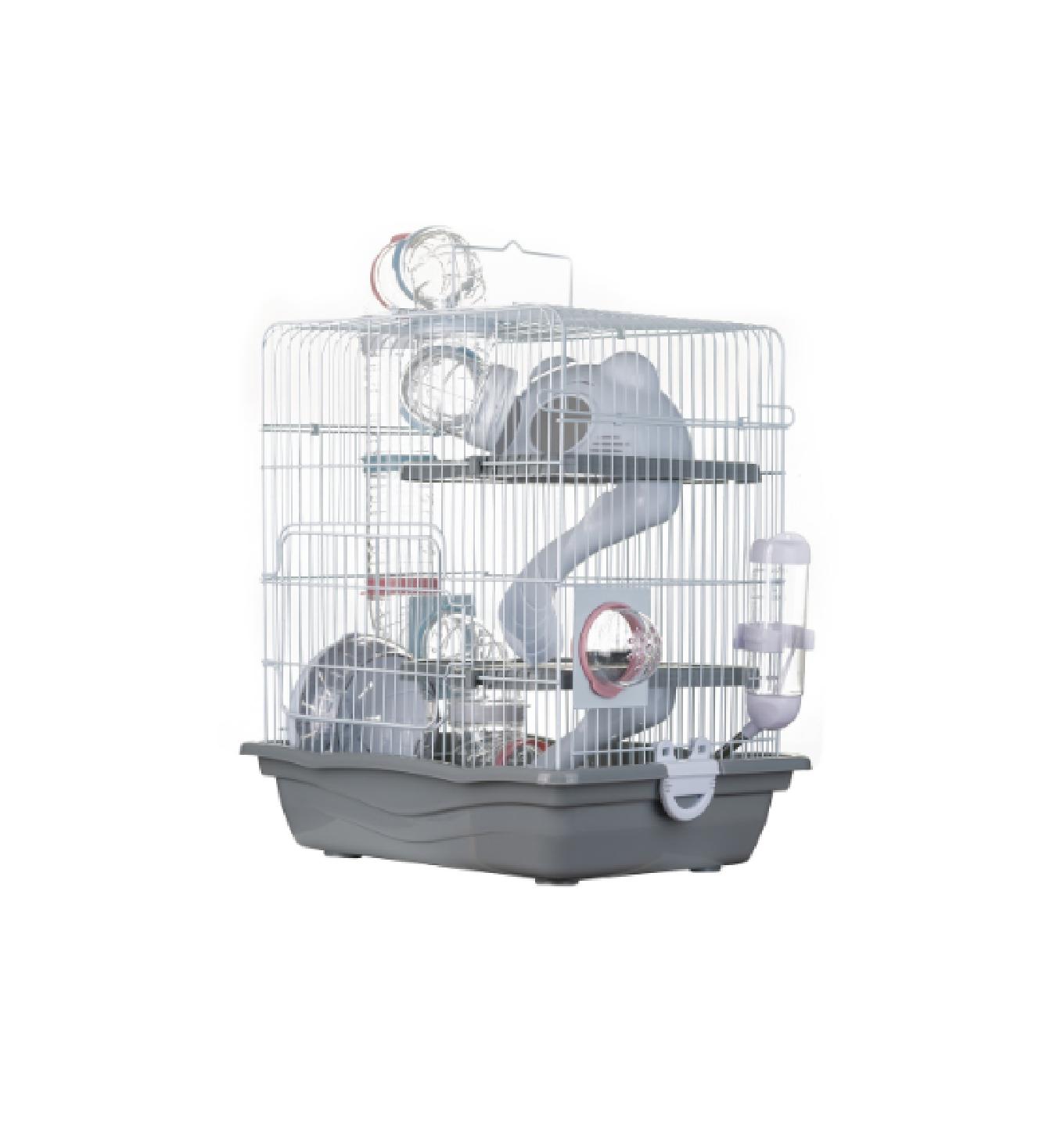 Gaiola Hamster Labirinto Safari Grande - Cinza