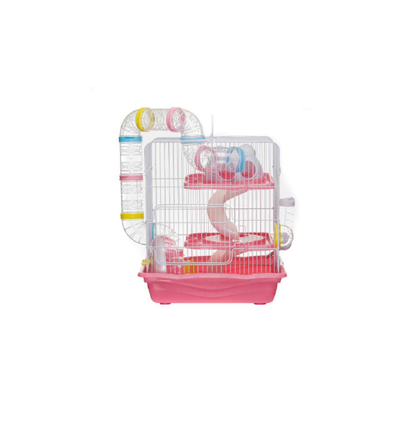 Gaiola Hamster Labirinto Safari Grande - Rosa