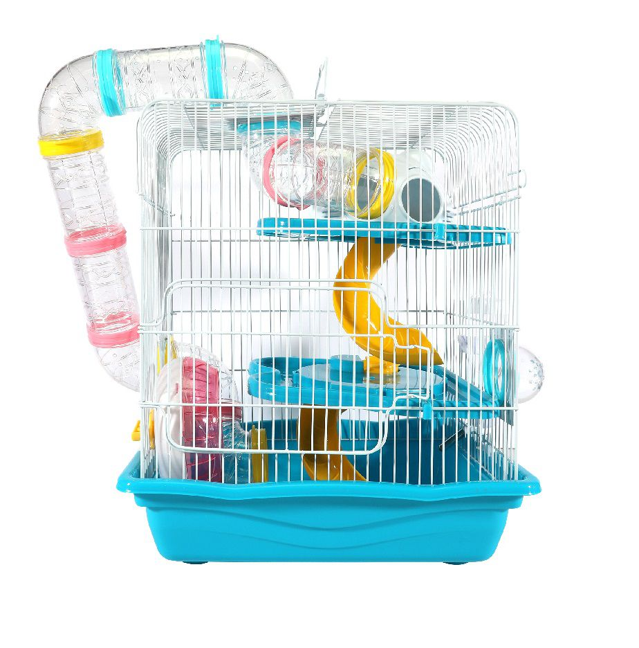 Gaiola Hamster Labirinto Safari Grande - Azul
