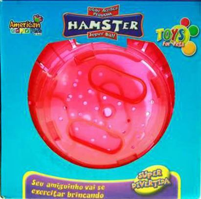 Globo de Plástico para Exercícios 18cm - Rosa