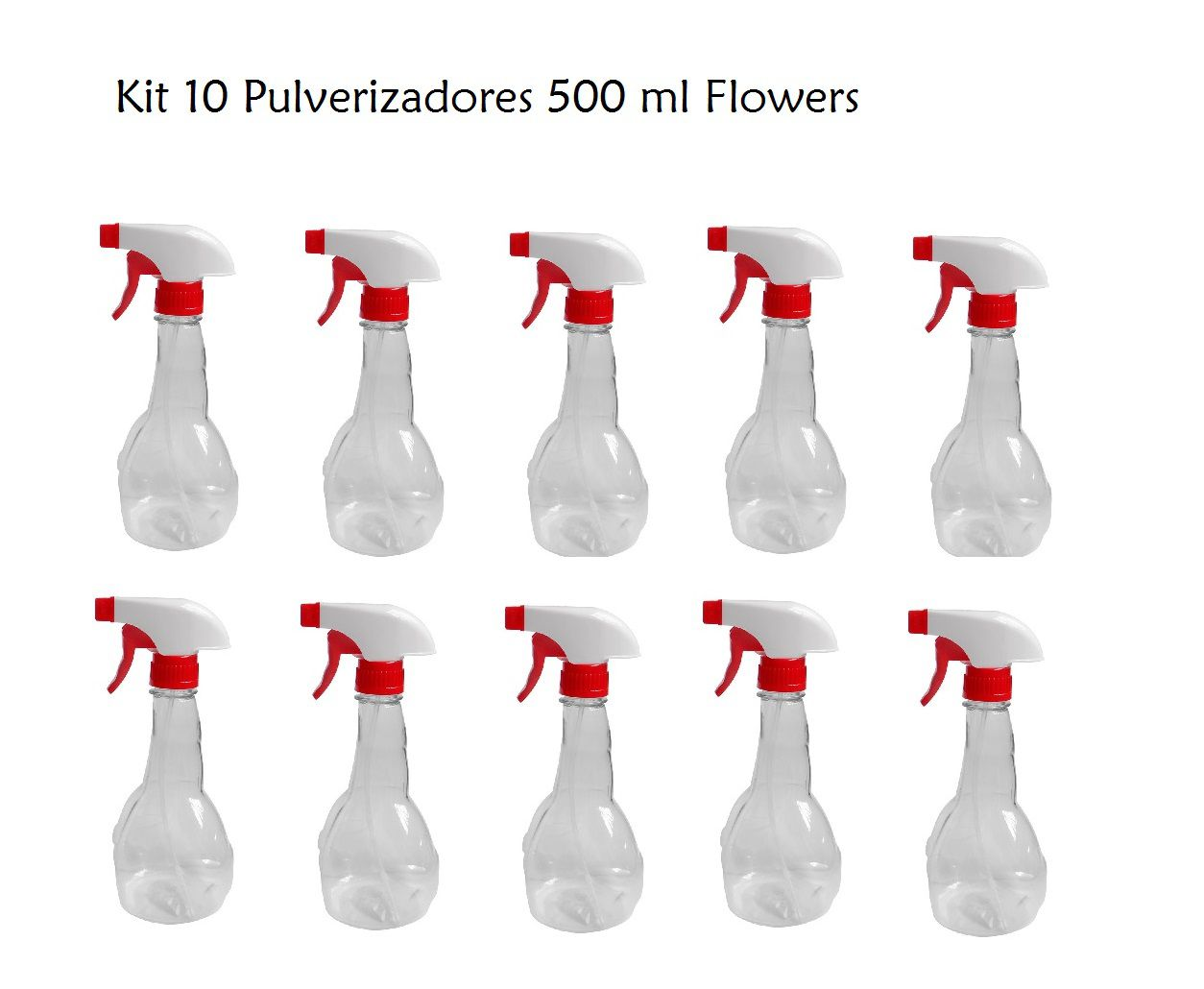 Kit 10 Pulverizador Flowers 500 ml
