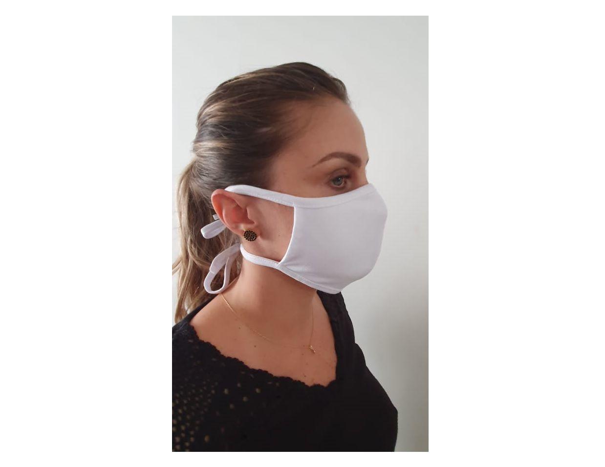 Kit 2 Mascara Tecido Lavável Alça Ajustavél Dupla Proteção Não Descartavel