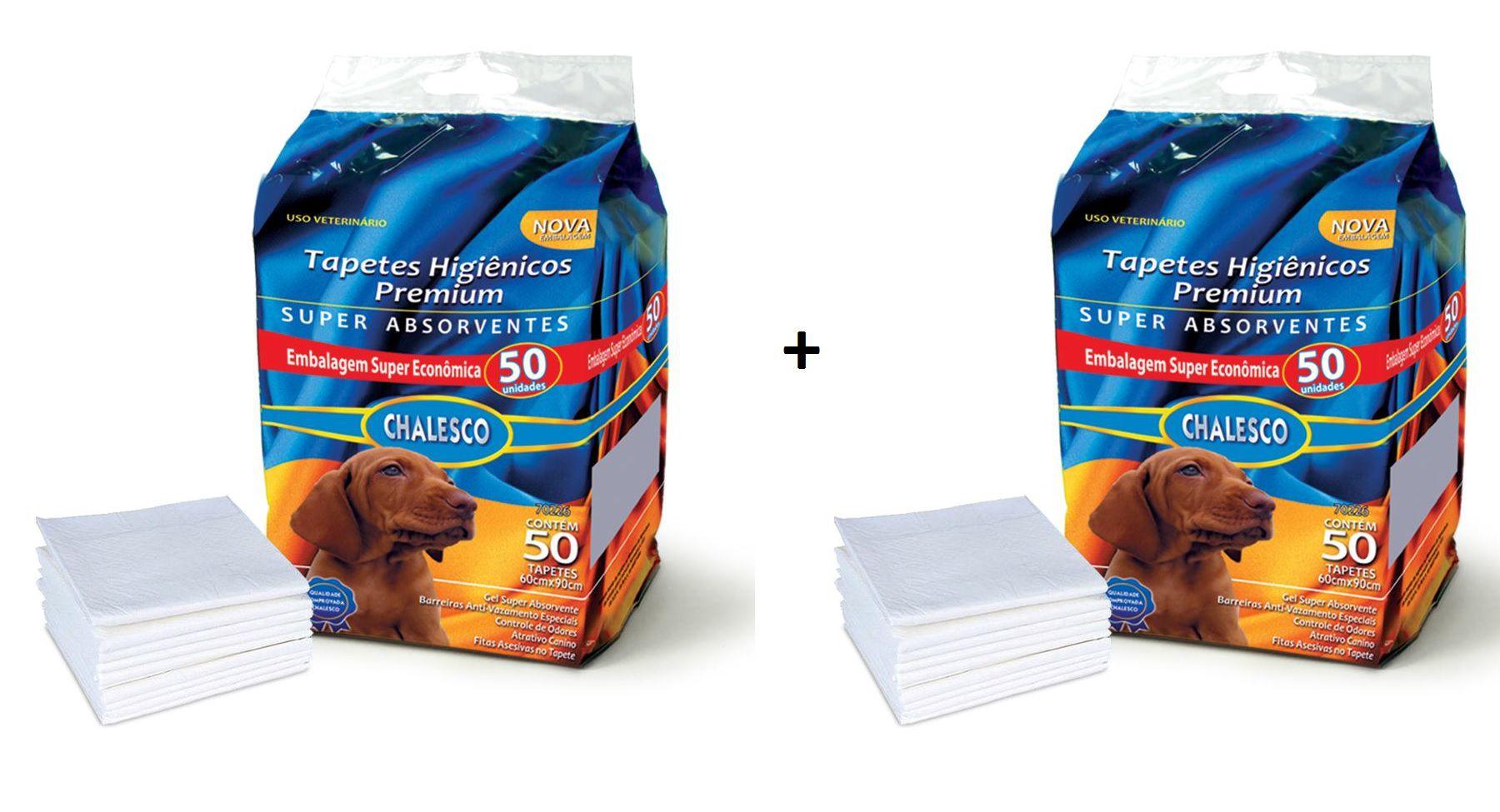 Kit 2 Tapete Higiênico para Cães 50 Unidades - Chalesco