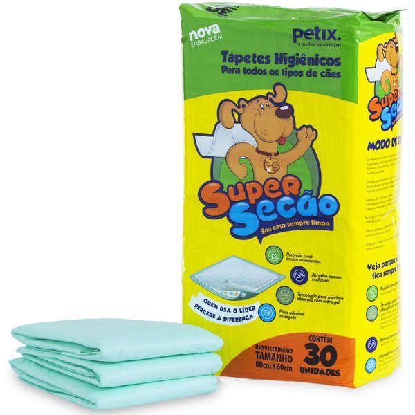 Kit 2 Tapete Higiênico para Cães Super Secao 30un - Petix