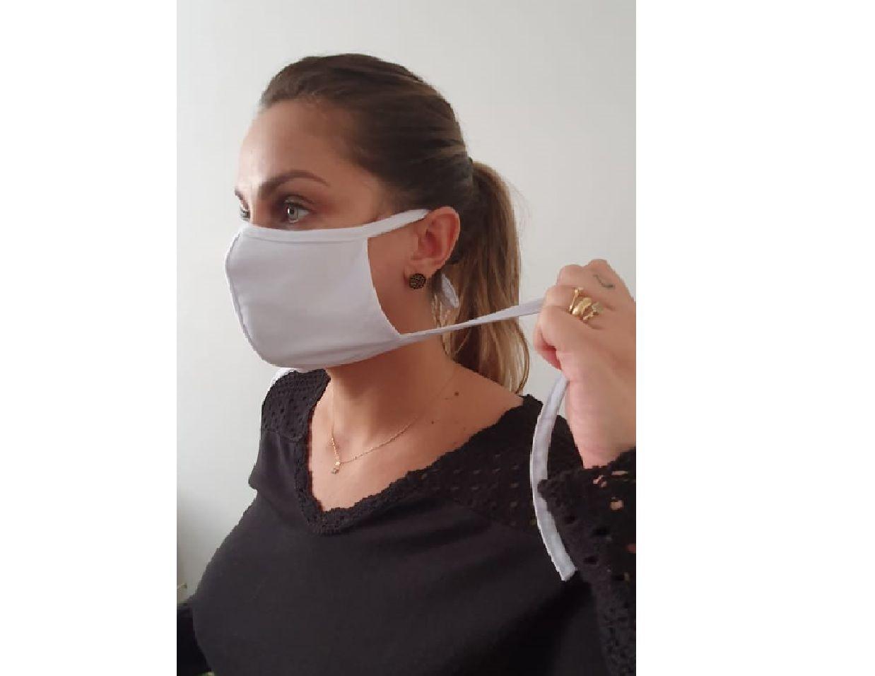 Kit 5 Mascara Tecido Lavável Alça Ajustavél Dupla Proteção Não Descartavel