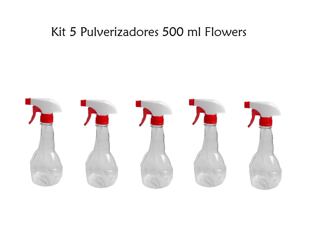 Kit 5 Pulverizador Flowers 500 ml