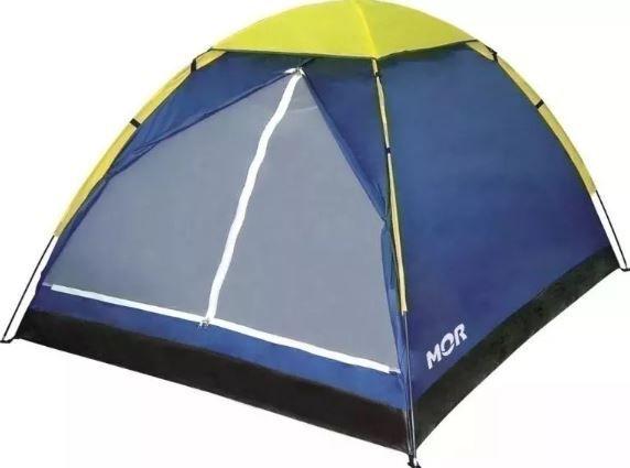 Kit Barraca De Camping Iglu 4 Pessoas + Colchão Inflável Casal Mor