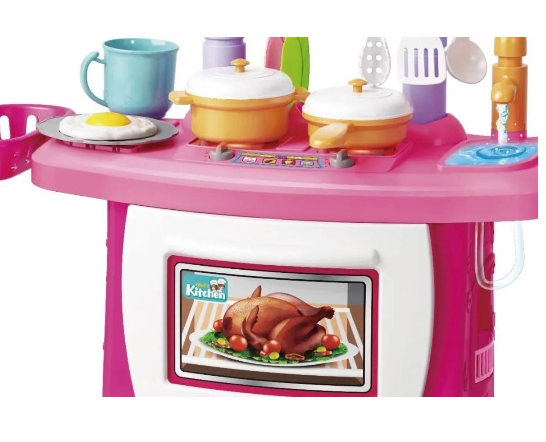 Kit Cozinha Infantil Completa c/ Som Luz 43pçs - Importway
