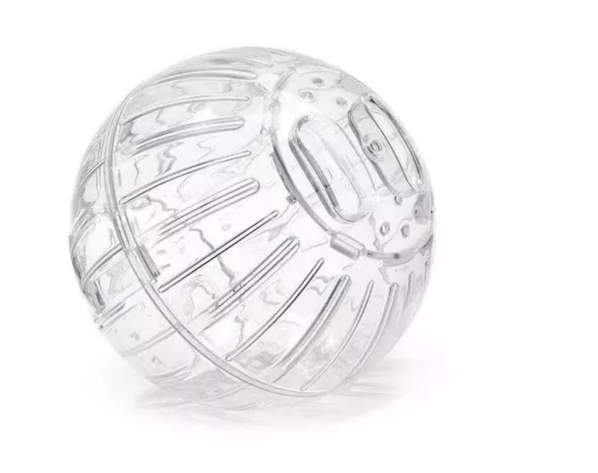 Kit Gaiola Safari Super Gigante Laranja + Bola de Exercícios 18cm Transparente