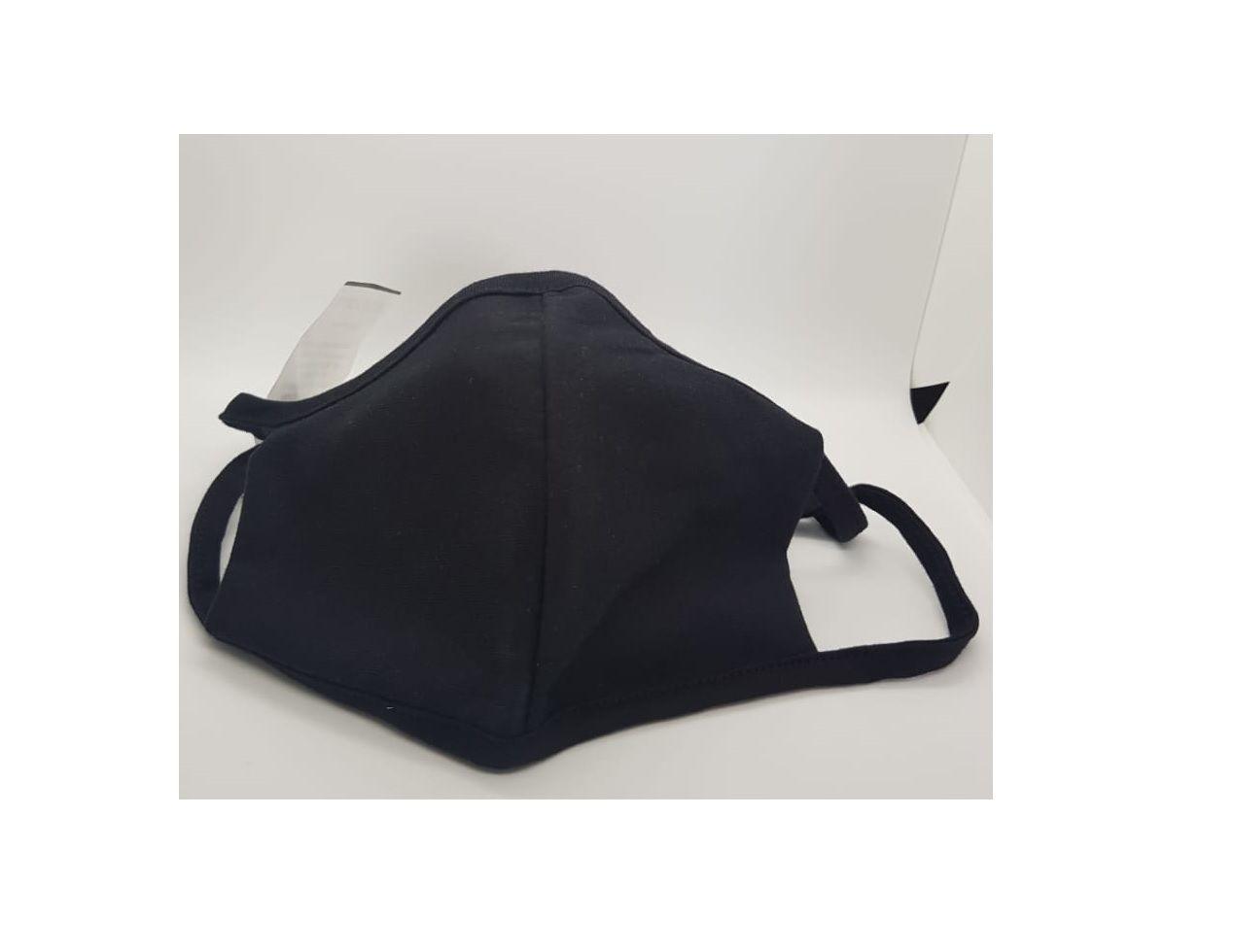 Kit 2 Mascara Tecido Lavável Alça Ajustavél Dupla Proteção Não Descartavel Preta