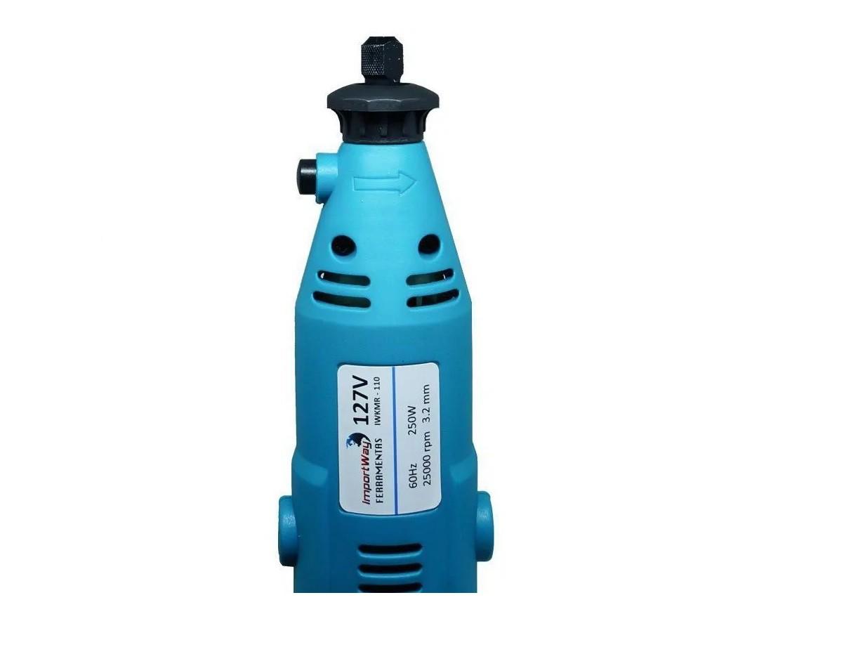 Kit Micro Retífica 250w 160 Pçs 110v - Importway