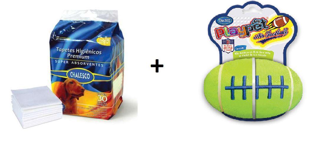 Kit Tapete Higienico 30un + Brinquedo Air Football Chalesco