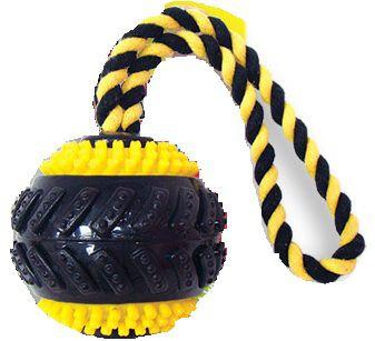 Kit Tapete Higienico 30un + Brinquedo Ball C/ Corda Chalesco