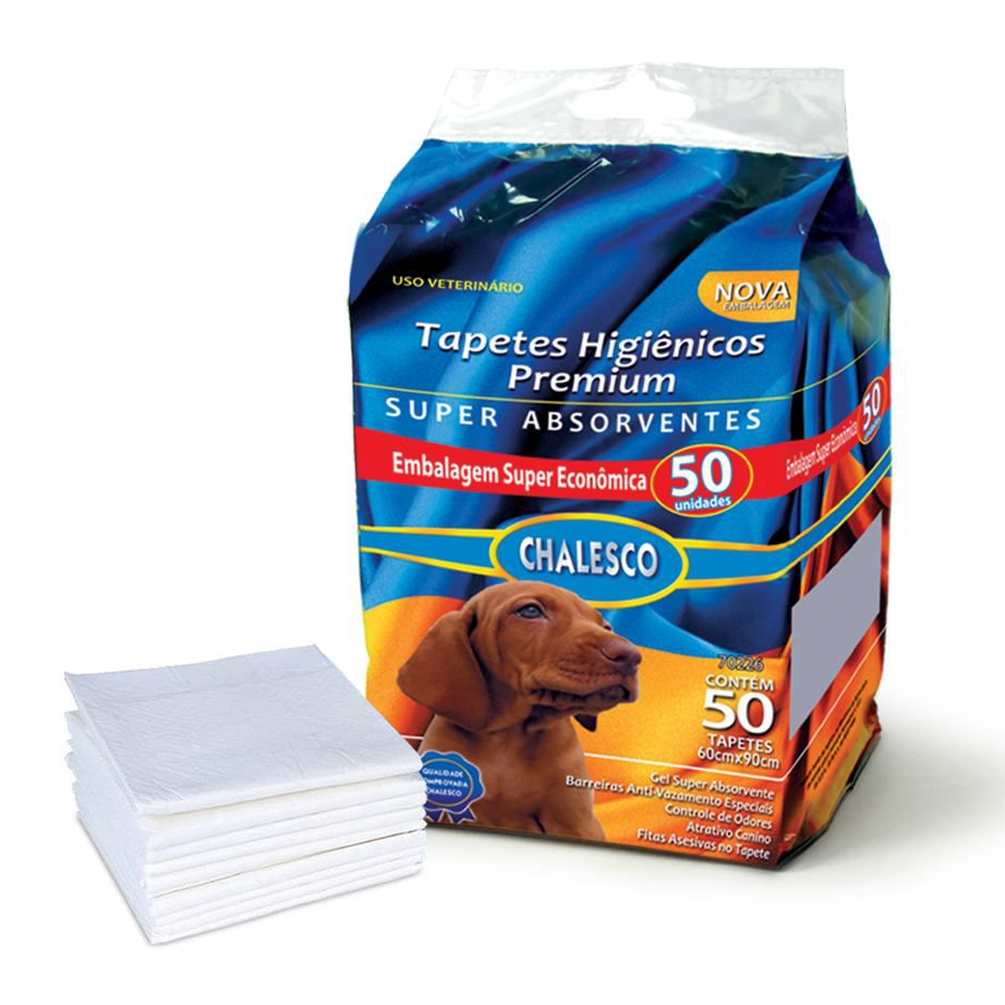 Kit Tapete Higienico 50un + Bola Petisco Chalesco