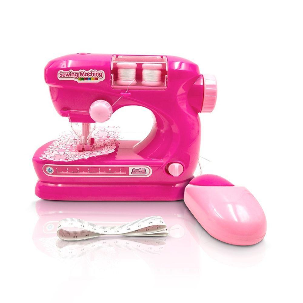 Maquina Costura Infantil Mini Atelie Rosa