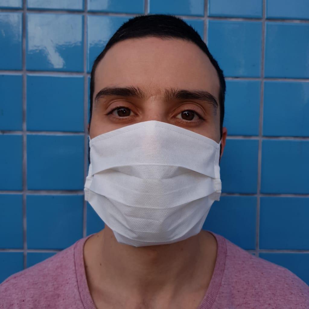 10 Máscara Descartável 3 Camadas Tnt Elástico E Clipe Nasal