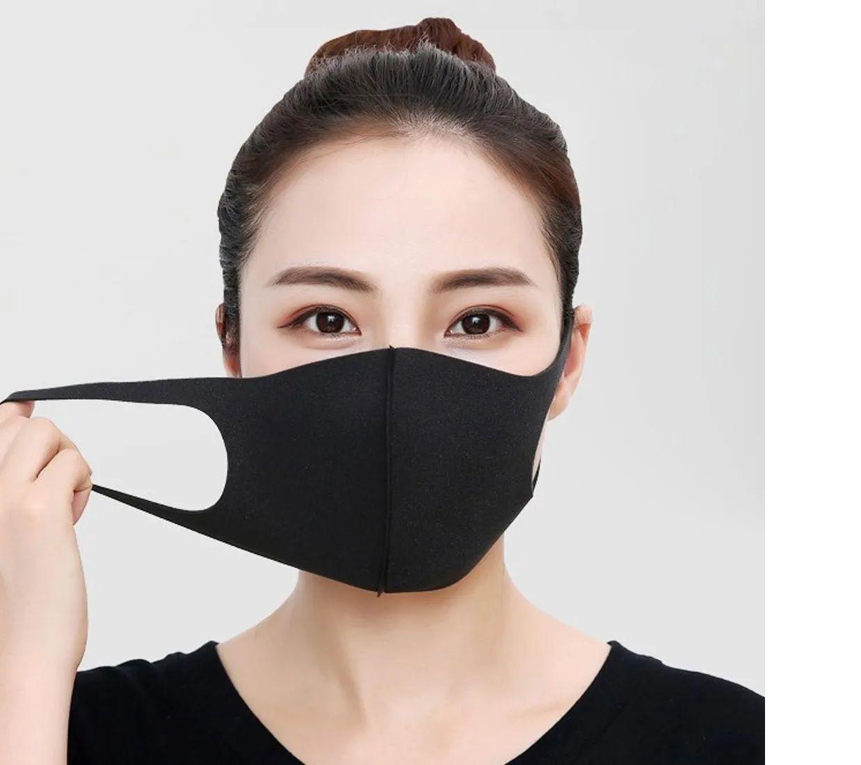 Mascara Helanca Lavável Dupla Proteção Não Descartável