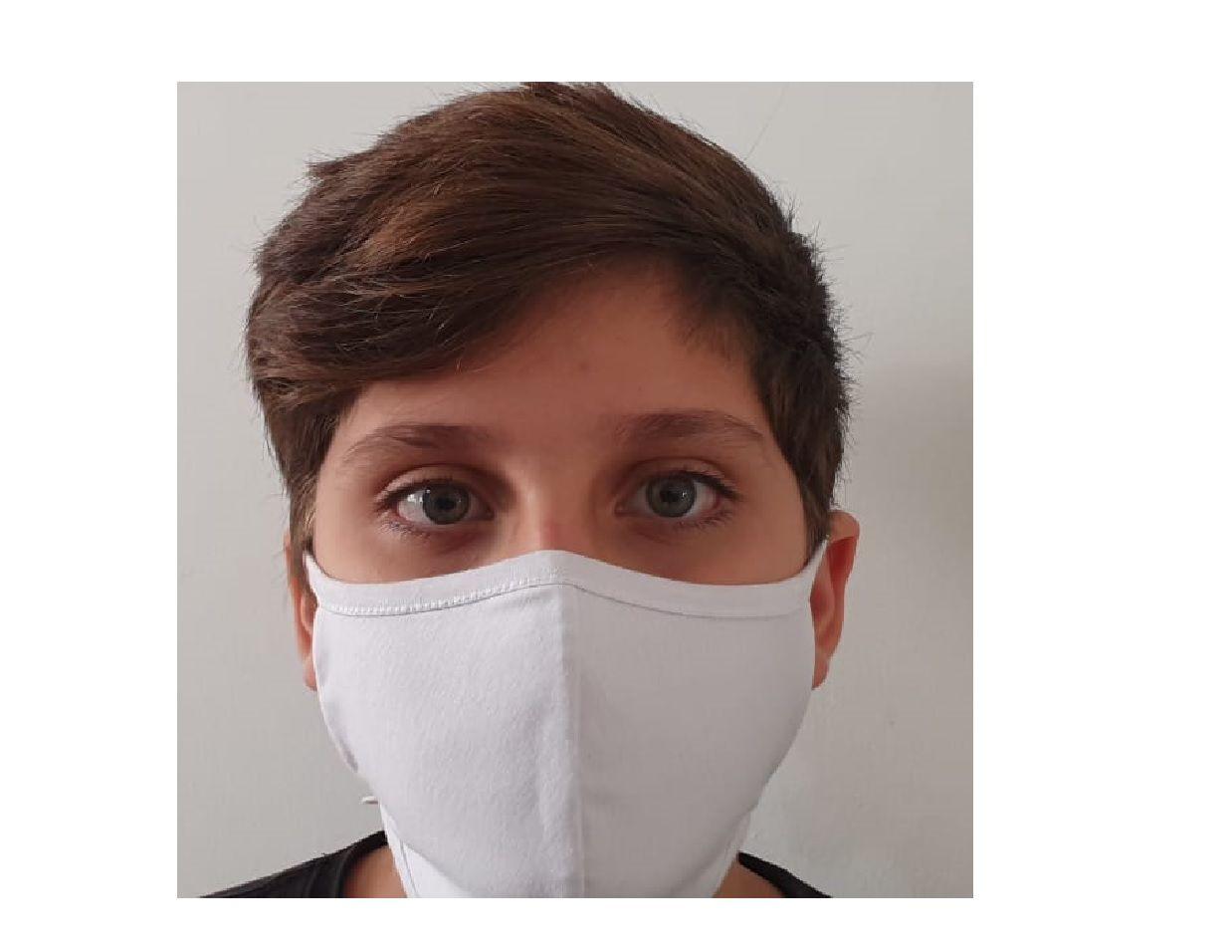 Mascara Tecido Lavável Alça Ajustavél Dupla Proteção Não Descartavel