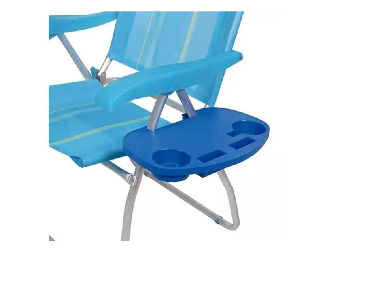Mesa Portátil Para Cadeira De Praia c/ Porta Copos - Mor