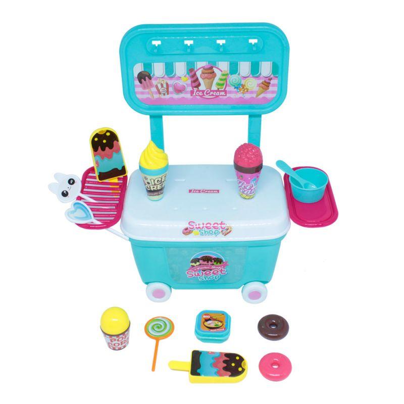 Mini Kit Infantil Carrinho De Doces Doceira Bel Brink