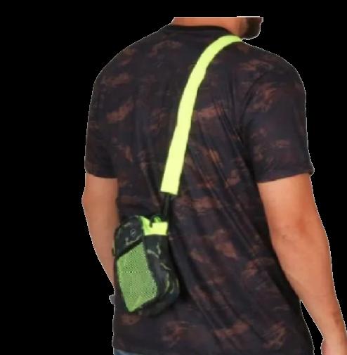 Mini Shoulder Bag Camuflada Neon Bolsa Lateral Pochete Wg