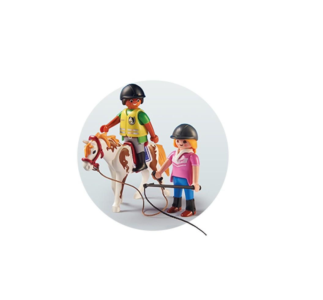 Playmobil Country Soft Bags Cavalos Cavaleiros 4 Modelos - Sunny