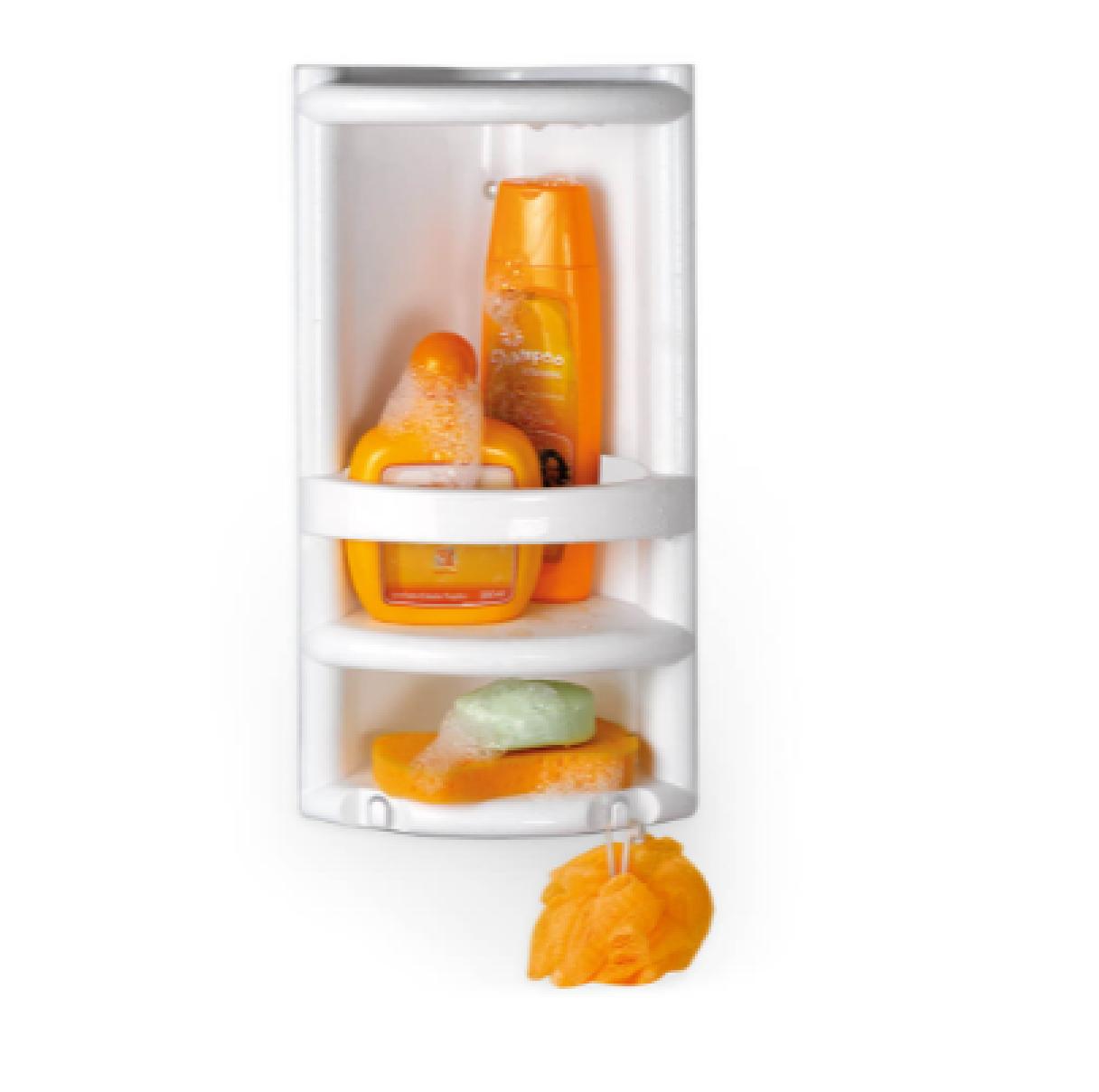 Porta Shampoo Cantoneira Para Banheiro Plástico Organizadora - Nitron