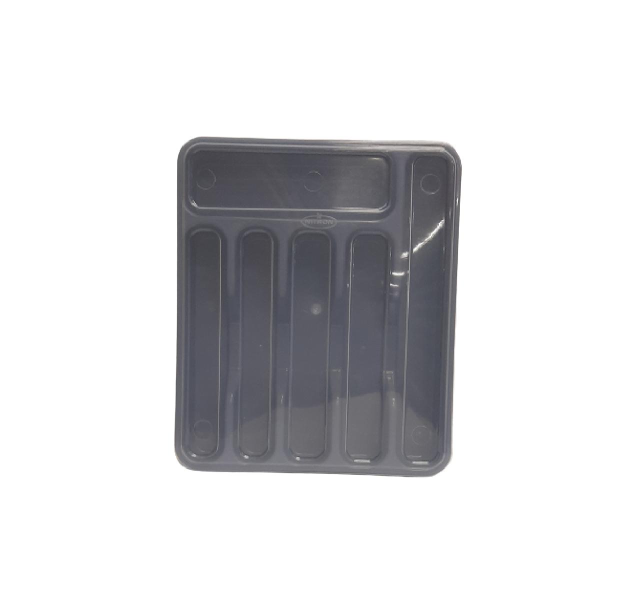 Porta Talher Plástico Grande 6 Compartimentos C/tampa Nitron
