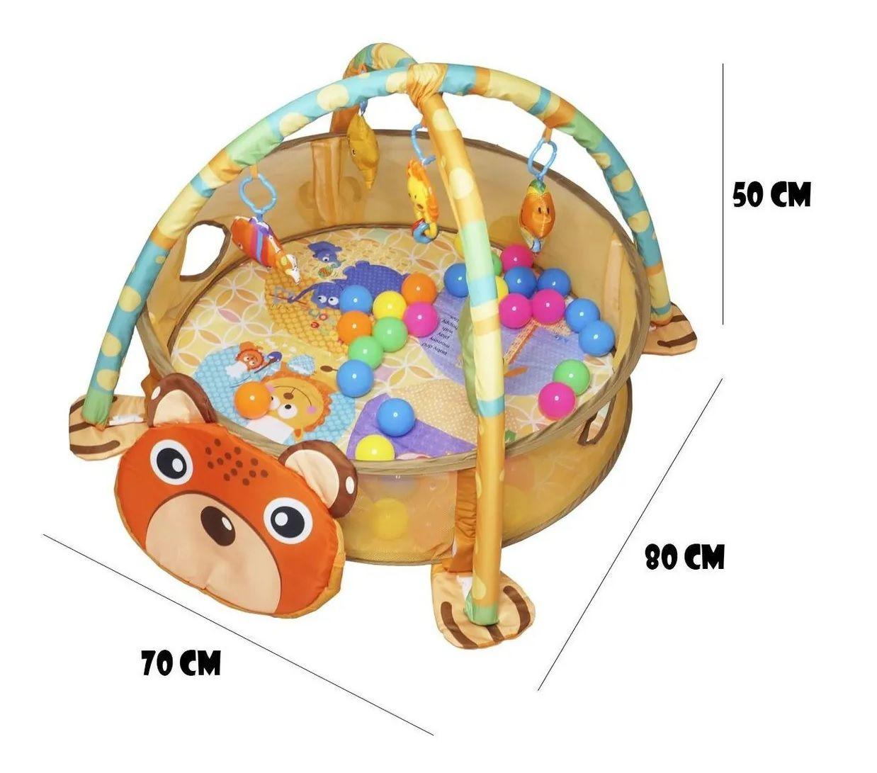 Tapete de Atividade Infantil 3 em 1 com Piscina Bolinhas