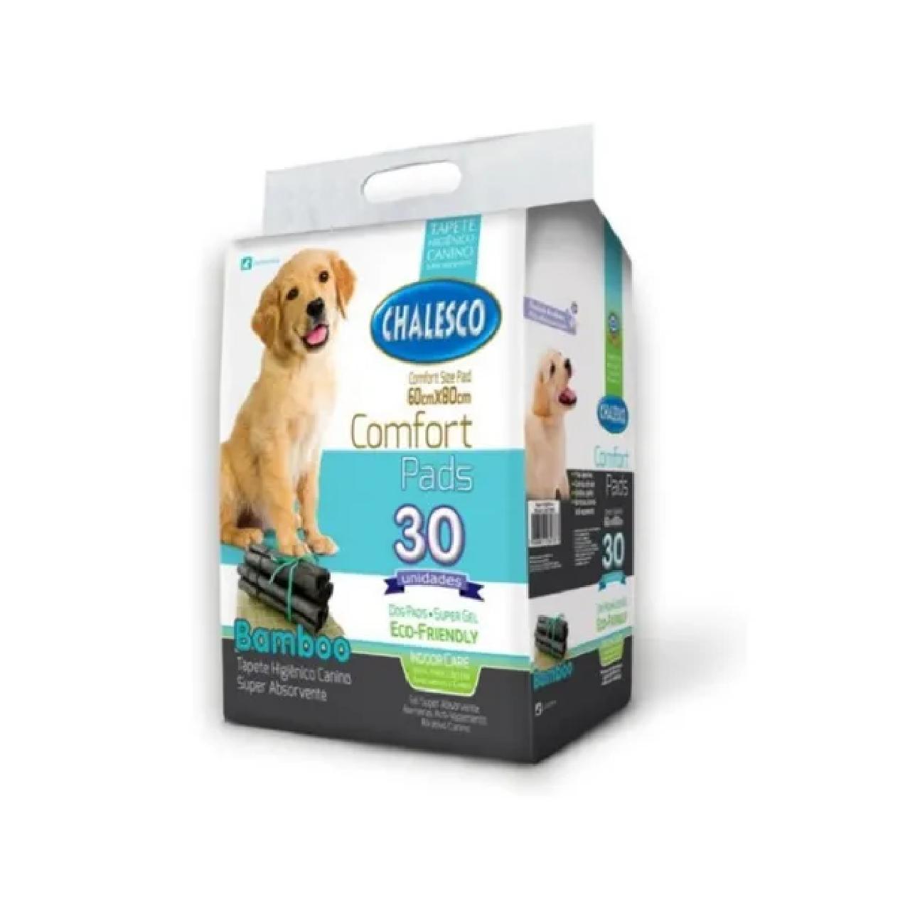 Tapete Higiênico Bamboo Ecológico Para Cães 30 Unidades - Chalesco