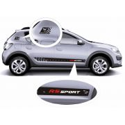 Adesivo RS Sport para Sandero Modelos Stepway Authentique Expression Vibe GT Line R.S