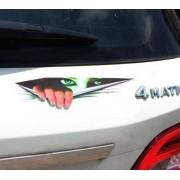 Auto Adesivo de Vinil Carro 3D Olhos Espiando