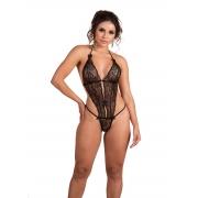 Body Sensual em Renda Vazada