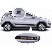 Kit Adesivo Faixa Lateral Sporting Para Renault Sandero